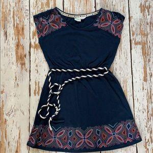 Roxy Girls M 8/10 Navy Cotton Dress